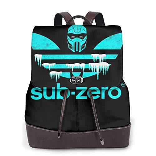 Sub Zero Sports Logo Women's Bapack, College Girl School Bag, Ladies Travel Bapack, Ladies Leather Bapack