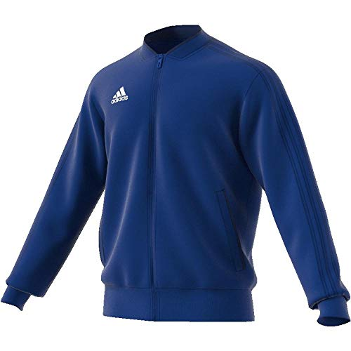 adidas Condivo 18 Polyester Jacket, Maglia A Zip Uomo, Blu/Blu ScuroBianco, S