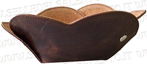 Vide-poches cuir marron vide poches avec personnalisation Laser Bonbonnière
