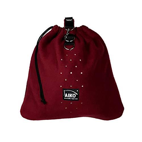 Aiko Bolsa para casco de equitación, color burdeos, edición limitada, transpirable
