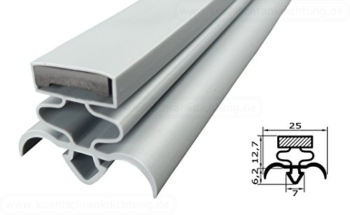 Magnetdichtung Profil groß Q - 2000mm inkl. Magnetband - Farbe: Grau (Kühlschrankdichtung)