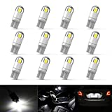 12Pcs Extremely Bright 3030 Chipset 194 LED Bulbs for Car Interior Map Dome Lamp Courtesy Trunk License Plate...