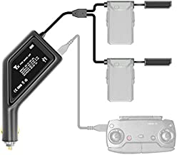 Hanatora Battery Car Charger with Dust Cover for DJI Mavic Air Drone and Remote Controller, 3 in 1(USB + 2 x Battery) Portable Multiple Rapid Charging Hub Accessories