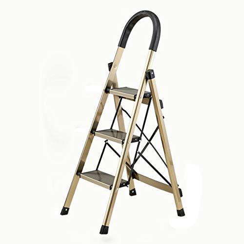 Startseite Klappleiter mit Fischgrätmuster Leiter Technik Leiter verdickte Aluminiumlegierung Innen Portable multifunktionale Stehleiter Treppen Stabilität und Sicherheit