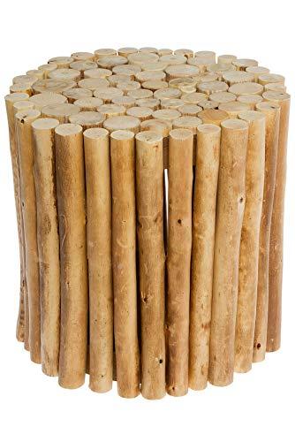 Spetebo Design Holz Hocker aus Holzästen - rund - Sitzhocker Blumenhocker Beistelltisch Holzklotz