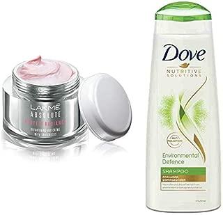 Lakmé Perfect Radiance Fairness Day Creme 50 g & Dove Environmental Defence Shampoo, 340ml