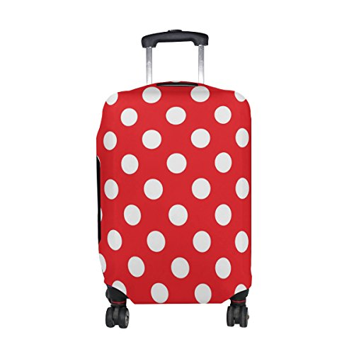 My Daily Classic Red And White Polka Dot Luggage Cover Fits 29-32 Inch Suitcase Spandex Travel Protector XL