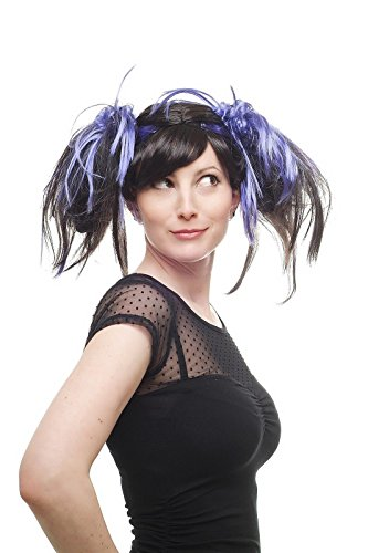 WIG ME UP Tresses, Couleur Lilas/Noir, Style Cosplay Manga Girly Gothic Lolita, idéal pour Carnaval Halloween 87110-P1-C10