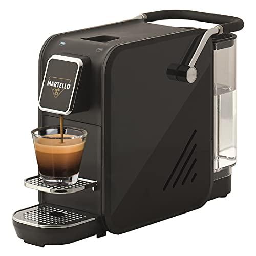 Martello Kapselmaschine SMART schwarz | 1400 Watt | 20 Bar | 0,75 Liter | Espresso- und Lungotaste | Geeignet für alle Tassen | Kaffeemaschine ist ausschließlich mit Martello Kaffeekapseln kompatibel