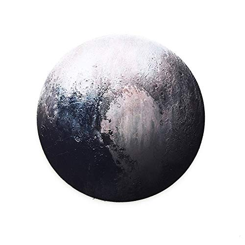 YABAISHI Mouse Redondo Planeta Planeta Serie Mat Earth/Venus/Mars/Mercury/Jupiter/Plutón/Luna Rainbow/Black Moon Computer Perifherals Accesorio (Color : 1)