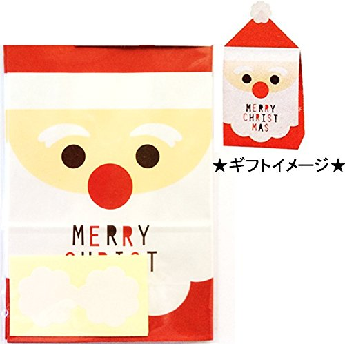 MERRY CHRISTMAS クリスマスギフト・プレゼント用バッグセット 5枚入り フルサンタS C-2491