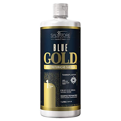 SALVATORE Shampoo Anti-Residuos Blue Gold, 1000 ml
