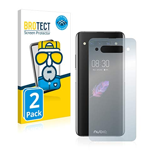 BROTECT Full-Cover Schutzfolie Matt kompatibel mit ZTE Nubia Z20 (Rückseite) (2 Stück) - Full-Screen Displayschutz-Folie, 3D Curved, Anti-Reflex