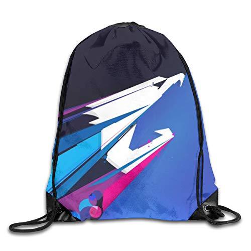 KXT Aorus Shoulder Bags Women Sport Cinch Pack Bags Beach Rucksack