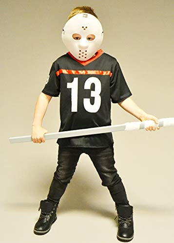 Magic Box Kinder Halloween Jason Style Hockey Kostüm Small (5-6 Years)