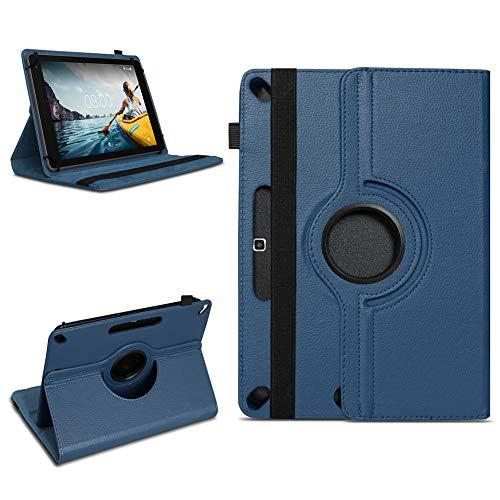 NAmobile Tablet Schutzhülle kompatibel für Medion Lifetab X10311 X10302 P10400 aus Kunst-Leder Hülle Universal Tasche Standfunktion 360 Drehbar, Farben:Blau