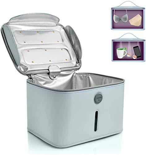 ZXL UV-Sterilisator, UVC-Box-Sterilisator, Blue Sanitizing Box Tragbare Tasche UVC-Lichtreiniger UV-Sterilisator, LED-Sanitizer-Reisetasche für Handy, Flasche, Schnuller Schmuck