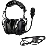Retevis 2 Way Radio Noise Cancelling Headset, Compatible with Retevis...