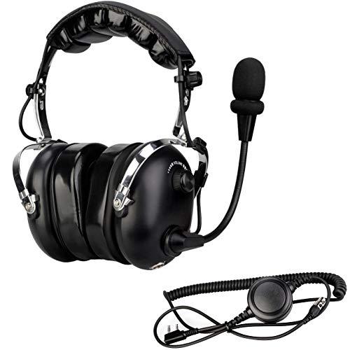 Retevis Two Way Radio Noise Reduce Headset for Retevis H-777 RT22 RT21 BaoFeng 888S UV-5R, Walkie TalkieEarpiece with Boom Microphone Waterproof PTT Adjustable Volume Knob (1 Pack)