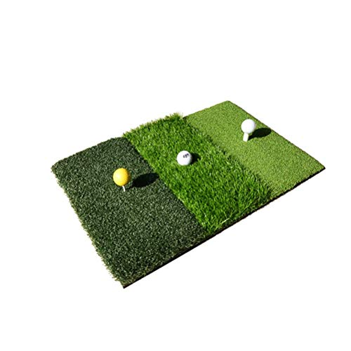 Carpet LUSON Indoor Golf Practice Equipment, Slagmat schommel, opvouwbaar, draagbaar, 3 in 1 Rod (63 x 42 cm)