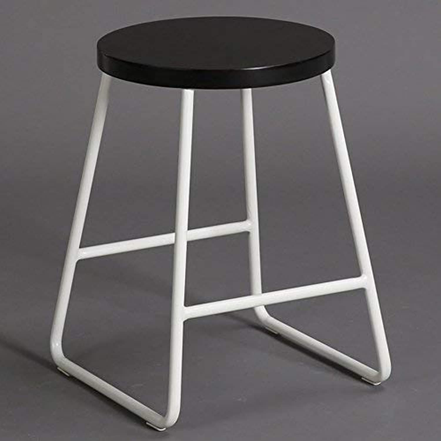 SED Chair - Iron Bar Stool Loft Round Stool Home Change shoes Stool Cloth Stool Bar Stool Dressing Stool Clothing Store Simple Decoration Stool Adult Home Stool