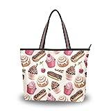 NaiiaN Sacs à bandoulière sac fourre-tout gâteau au chocolat pour femmes filles dames étudiants sacs à main léger sangle sac à main Shopping