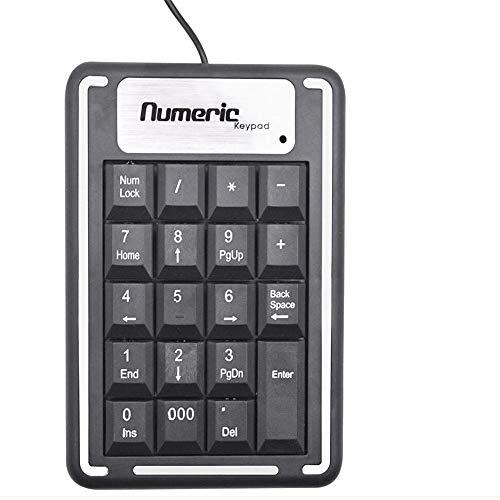 Mini tastiera numerica, mini USB numero pad full-size 19 tasti tastiera per computer portatile desktop PC notebook