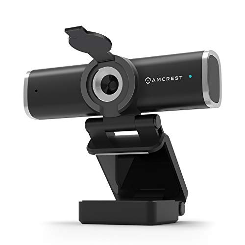 Amcrest 1080P Webcam with Microphone for Desktop, Web Cam Computer Camera, Streaming HD USB Web Camera for Laptop & PC with Privacy Cover, Wide Angle Lens, Superior Low Light (AWC195-B)