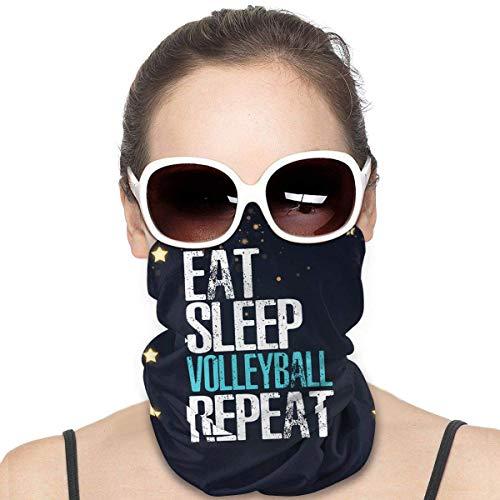 Nother Eat Sleep Volleyball Repeat Kordelzug Gesichtsmaske Herren Outdoor Vielfalt Kopftuch Winddicht Multifunktionsmaske