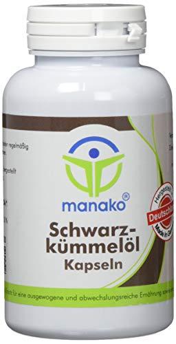 manako Schwarzkümmelöl Kapseln, 4 x 150 Stück, Dose a 102 g (4 x 150 Kapseln)