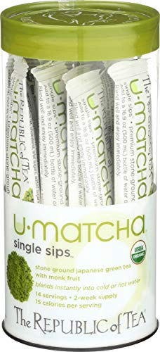 REPUBLIC OF TEA Organic Macha Single Sips Tea, 14 CT