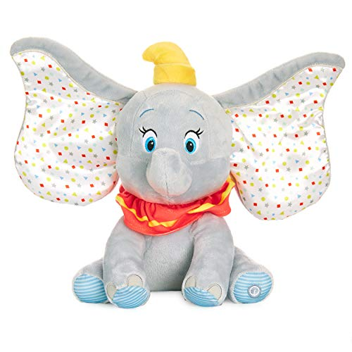 KIDS PREFERRED Disney Baby Dumbo Animated Plush Elephant with Flapping Ears, Music and Lights (79681)