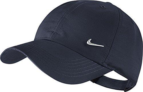 Nike Ya Heritage 86 Swoosh AD - Gorra de tenis unisex para joven, color obsidiana / plateado