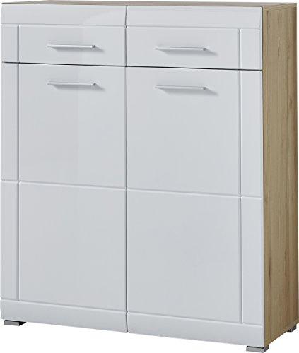 Germania 4-tlg. Garderoben-Set GW-Neapel 8702-231 | In Edelbuche und Weiß | 220 x 197 x 37 cm