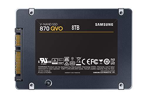 Samsung Memorie MZ-77Q8T0BW 870 QVO SSD Interno, 8 TB, SATA, 2.5
