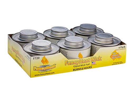 """Fancy Heat, Clean Burning Chafing Dish Fuel with Minimal Odor and Soot, """"6 Pack"""", 6 Hour 8oz, Yellow Label"""