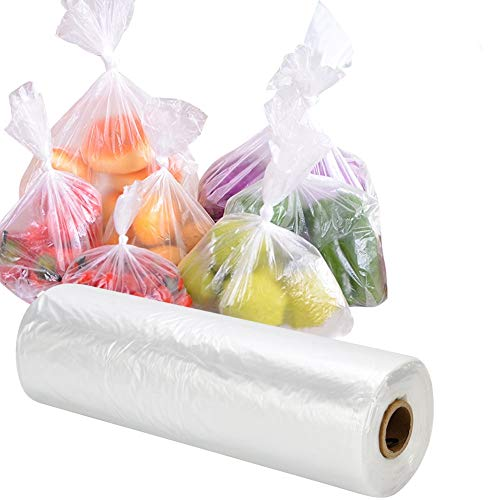 RyhamPaper Food Storage Bags, 1 Roll 12 x 20 Plastic Produce Bag on a Roll Fruits, Vegetable, Bread,...