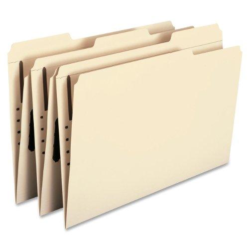Smead Fastener File Folder, 1 Fastener, Reinforced 1/3-Cut Tab, Legal Size, Manila, 50 per Box (19534)