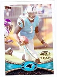 Cam Newton football card (Carolina Panthers) 2012 Topps #141 Rookie of the Year