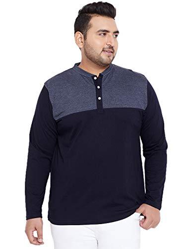Bigbanana Plus Size Men's Henley T-Shirt