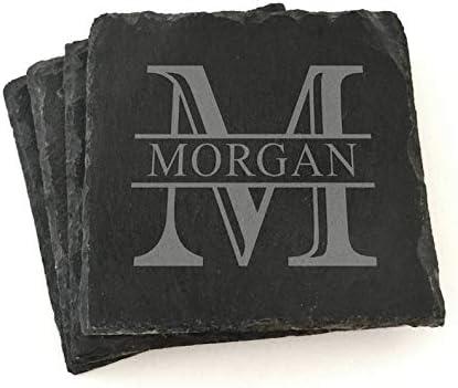 Custom Monogram Slate Coasters Personalized 5 In a popularity ☆ very popular