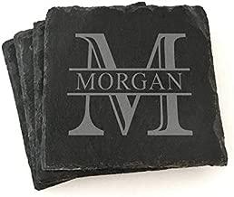 Custom Monogram Slate Coasters Personalized