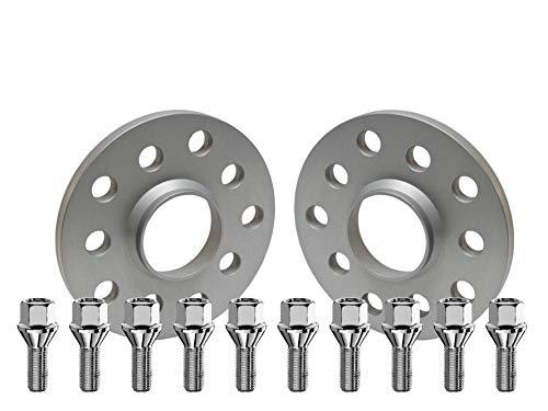 SCC Fahrzeugtechnik Distanzscheiben-Set 30mm (2x15mm) Silber eloxiert mit Radschrauben für Audi/Seat/Skoda/VW