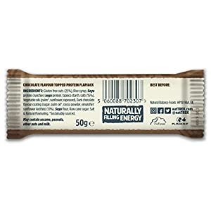 TREK High Protein Flapjack Cocoa Oat, 50 g - Gluten Free Bars – Healthy Snack Bars – Plant Based Protein - Vegan Bars (Pack of 16 Bars)