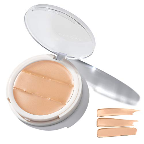 3-in-1 Cream Concealer & Highlighter. Natural Coconut for Dewy Glow – UNDONE BEAUTY Conceal to Reveal. For Blemishes, Tattoos, Under Eye & Wrinkles. Vegan & Cruelty Free. Buttercream Medium Light