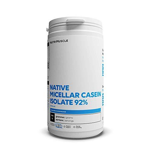 Isolat de Caséine Micellaire | Pureté record 92% • Prise de muscle • Coupe-faim • Assimilation très lente • Sans OGM • Musculation & Fitness| Nutrimuscle |Chocolat - 500 g