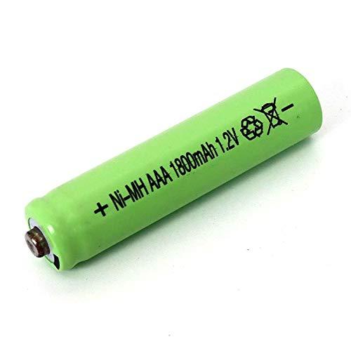 MeGgyc Pilas Recargables AAA de 1,2 v 1800 mAh batería 1,2 V AAA para Coche de Control Remoto eléctrico RC ues