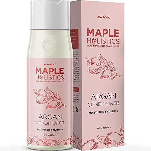 Argan Conditioner for Damaged Dry Hair - Moisturizing Argan Oil Conditioner for Dry Hair Treatment Hair Moisturizer and Curly Hair Conditioner - Hydrating Conditioner with Keratin Silk Amino Acids