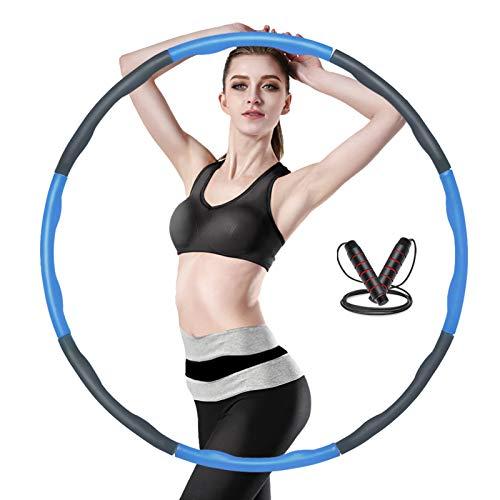 Yibaodan Aro de hula hoop, con contrapeso de 3 m, salto de cuerda, extraíble, para adultos, niños, jóvenes y mujeres