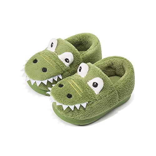 Pantofole Bambini Inverno Ragazze Ragazzi Peluche Bambino Ciabatte Warm Scarpe Cotone Antiscivolo Scarpe Verde 21/22 EU Lunghezza del Piede 150mm
